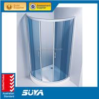 Square Stainless steel 8mm sliding door portable toilet shower room