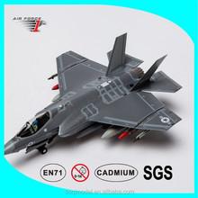 Diecast airplane model F-35C airplane model, China metal jet engine airplane toy model