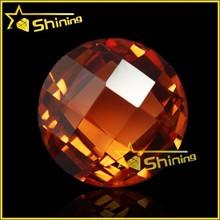 alibaba china gemstones chekcerboard cut round cubic zirconia gemstone