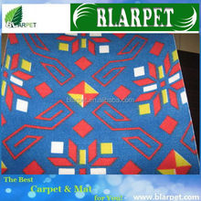 Modern branded patchwork printed carpet