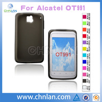 High quality matte tpu mobile phone case for alcatel OT 991