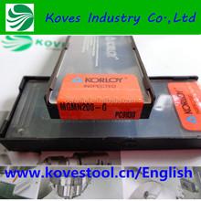 Korloy CNC Tool holder indexable Lathe carbide cutting insert for mechine tools Korloy MGMN200-G PC9030