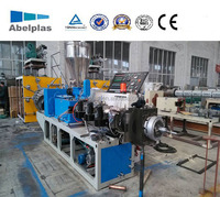 twin screw hot cutting plastic pvc granulating machine