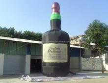 Custom made full printing inflatable bottle beverage bottles,inflatable beer bottle