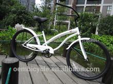 26 pulgadas venta caliente con blancas marco especializado motos crucero de la playa de China