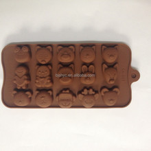 lovely cartoon bear shaped silicone chocolate candy jelly juice mold mould ice freezer tray freezing pan