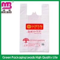 pure biodegradable material plastic t-shirt bag china suppliers
