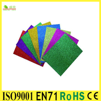 "SGS&EN71 Approved Glitter Goma EVA silicone sticky 20 COLOR 3""x6"" 2mm CRAFT FOAM SHEETS"
