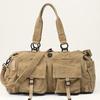 Multi-functional Khaki canvas travel shoulder bag for men