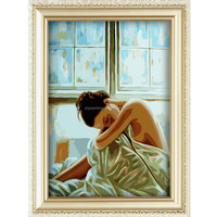 2015 beautiful fat woman back nude oil painting canvas for hotel decoration