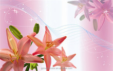 pictures of pink lily wallpaper for art music decor walls