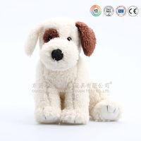 Lifelike cute plush soft poppy dog/stuffed animal sitting dog toy
