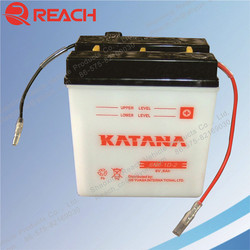 Wholesale High Quality 6V Dry Rechargeable Motorcycle battery 4Ah 6Ah 11Ah 12Ah