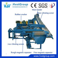 High output machine tire recycling