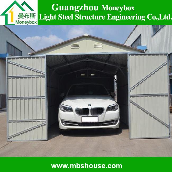 Rapide de la chine en m tal construire prefab8 garage for Petit garage prefabrique