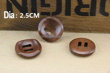 2 hole 25mm wood sewing buttons dark brown buttons bowl shape buttons DIY decoration MM-071