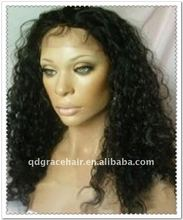 Custom order Top quality 100% natural virgin Brazilian curl full lace wig