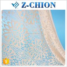 2016 nueva nylon del <span class=keywords><strong>ganchillo</strong></span> del algodón tela de encaje amarillo para cortinas