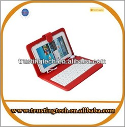 New arrival keypad bluetooth wireless keyboard leather case for universal 8inch tablet pc
