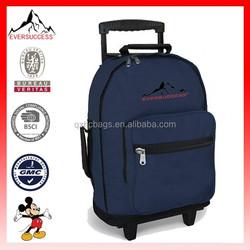 Rolling Backpack Wheeled Travel or School Carry-On Travel kids trolley school bag(ES-H140)