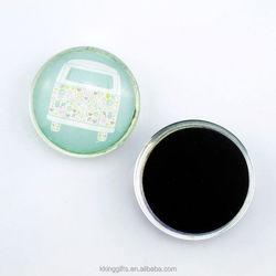Beautiful bus design fridge magnet/clear glass magnets for fridge/strong fridge magnets