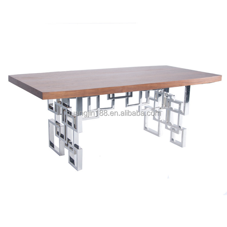 Modern Stainless Steel Dining Table With Chrome Dining Table Legs Buy Chrom