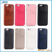 Ablibaba wholesale! Aluminum bumper + back pu leather cover protective phone case for iPhone 6/6s/plus