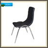modern high back french provincial PU+chrome frame dining chair