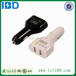 IBD new products high quality car charge 2.0 electric quick charger for android phone