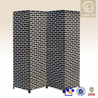 4 Panels wholesale and practical paper rope folding rattan furniture
