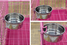 Hot selling wholesale no overthrow pet products stainless steel dog bowl Waterers/comederos