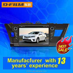 promotion car audio system with GPS NAvigation fit for Toyota Corolla with BT FM AM USB SD card