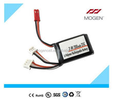 7.2V Lithium Polymer Rechargeable Battery Packs,7.4V Li-Polymer Battery Pack 10C battery pack