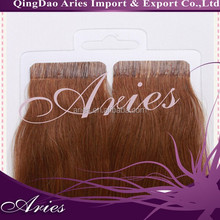 many color human hair straight tape in hair extensions