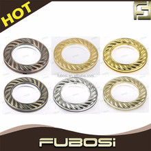 High smooth plastic curtain gold ring