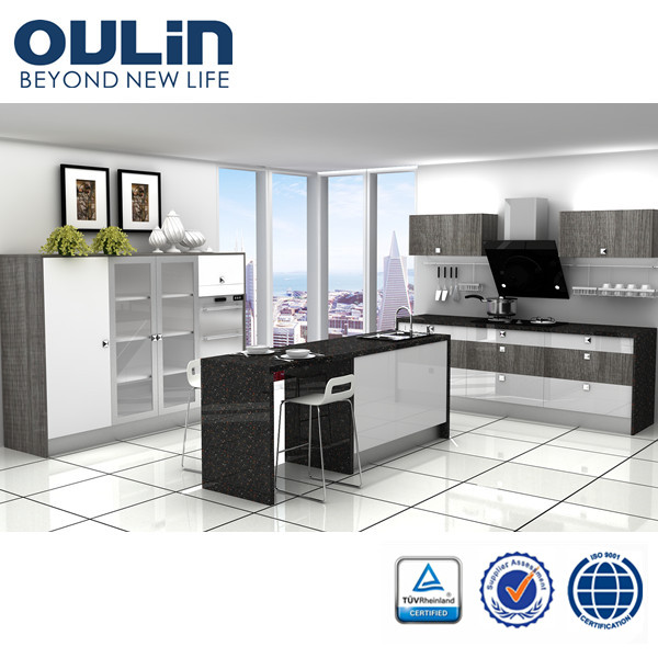 2015 oulin high quality modern cheap kitchen cabinets for for Budget kitchen cabinets ltd