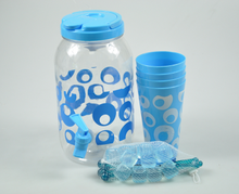 Plastic pitcher set with cups