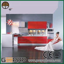 Modern luxury red and white cleaning wood veneer furniture