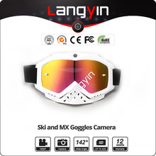Outdoor sports ski or motocross goggles with camera full hd 1080p