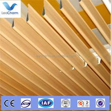Aluminum water dropped metal baffle strip ceiling for outdoor construction