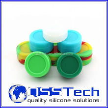 High quality 7ml customized silicone baby food freezer pods/ oil dab wax container/ silicone wax and oil container