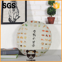 New Design Chinese Dragen Pattern Round Seat Cushion For Chair Round Rattan Outdoor Bed Outdoor Cushion
