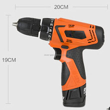 12v Lithium-ion cordless drill with rare earth motor and 2 high quality batteries