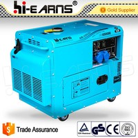 4.6KW DG6500SE chinese power portable magnetic electric diesel generator with wheels