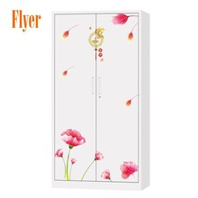 New Design Flat Packing Economic Steel Metal Cupboard Bedroom Cupboard With Lock
