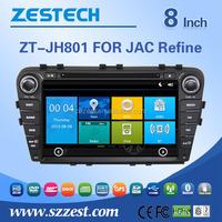 Zestech wholesale car dvd player gps for JAC Refine S5 multimdeia player TV+BT+3G+GPS+CANBUS USB/SD