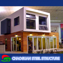 convinient assembled prefabricated container house for shopping mall, hotel, halls, office, restaurant