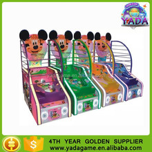 lovely mouse kids coin operated electronic basketball game machine