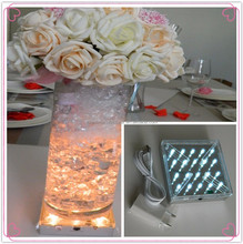 Decorative items for Party /Wedding/Event stage decorations 4 inch led light base for vase