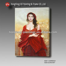 100% hand-painted indian woman portrait oil painting for wall decoration